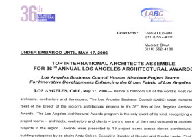 36th Annual LA Architecture